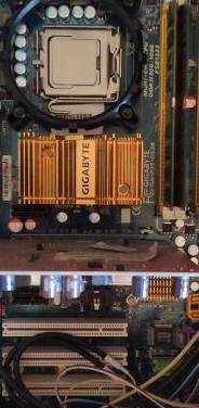 Core 2 quad, 8gb ram, placa base y gpu