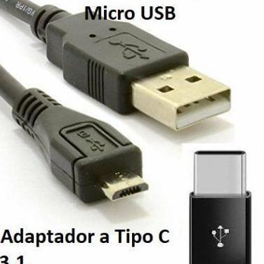 Cable de carga y datos micro usb adaptador a c