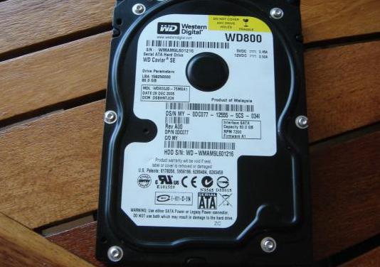 Disco duro hhd western digital wd800-80gb- sata