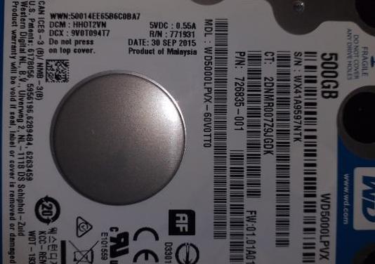 Disco duro 160 gigas