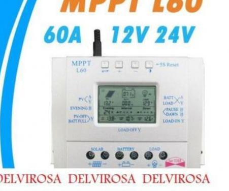 Mppt regulador solar 60a 12/24v solar control