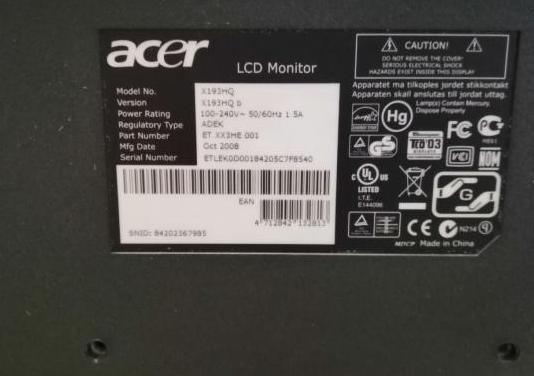 """Monitor acer 18.5"""" led"""