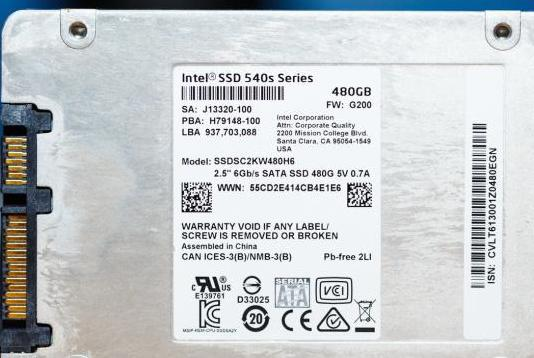 Ssd intel 540s 480gb gama alta