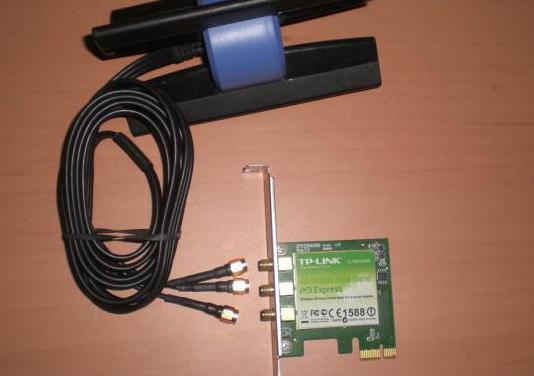 Tarjeta wifi pcie, y antena triple