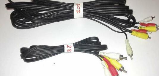 Cable 3 rca a 3 rca macho macho