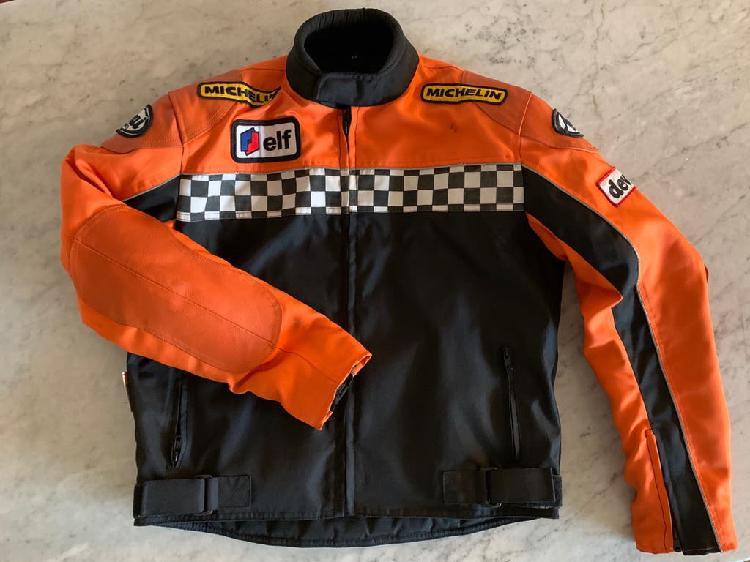 Chaqueta para moto con protección