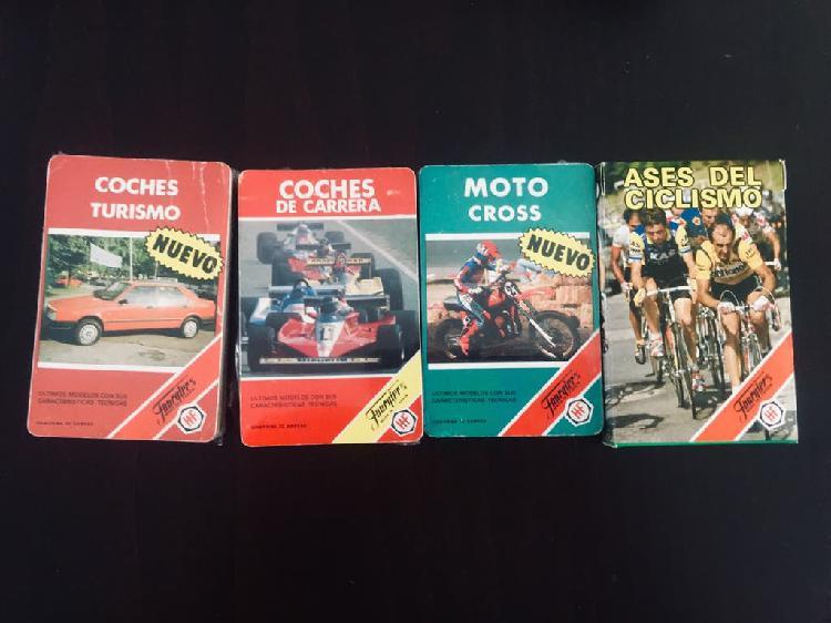 Lote barajas cartas fournier coches motos ciclismo