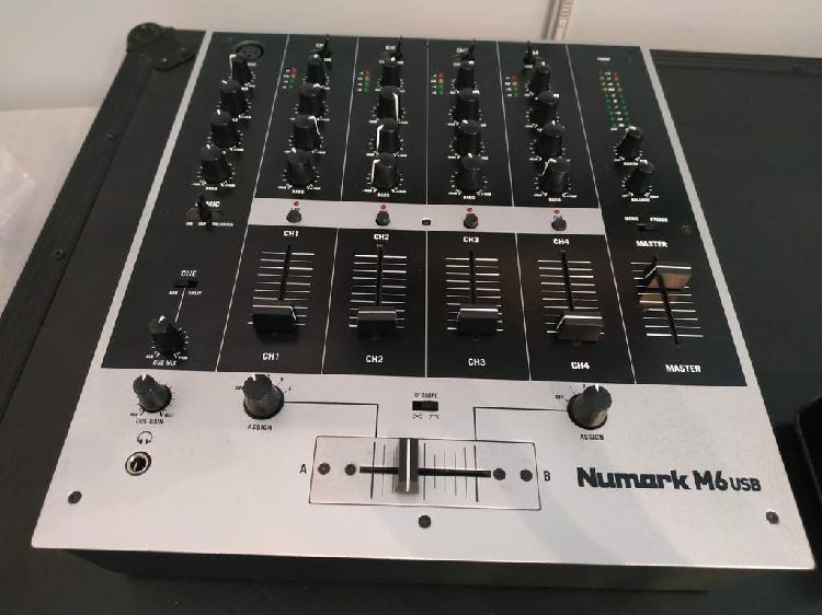 Mesa mezclas 4 canales dj numark m6 usb