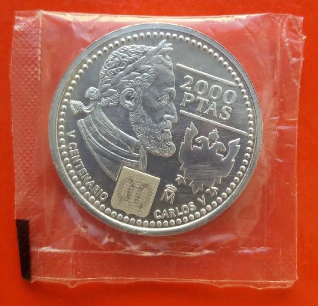 Moneda plata 2000pts año 2000