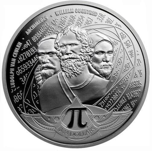Moneda de plata 999 conmemorativa del número pi