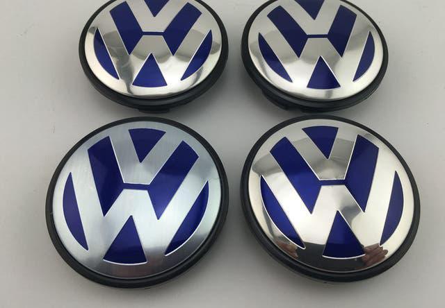 Nuevo centro de rueda volkswagen vw 65mm azul