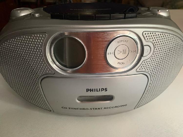 Radio cd con casete de philips