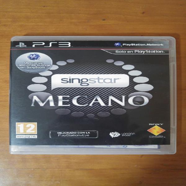 Singstar mecano ps3 playstation3 videojuego