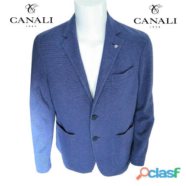 Canali® chaqueta azul de algodón para hombre talla 54