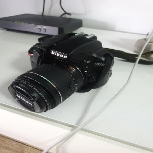Nikon d3300 ,con 2 objetibos y bolsa para llevar