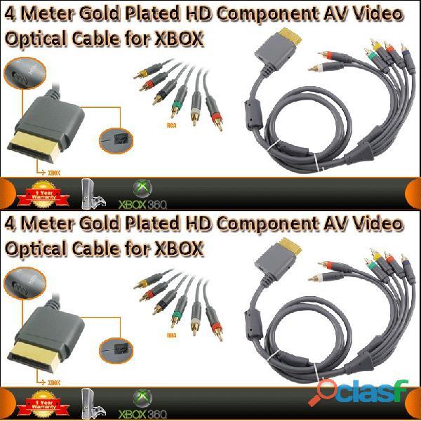 Xbox 360 cable video av componentes de 4 metros