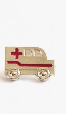 2,5 pin de ambulancia plateado