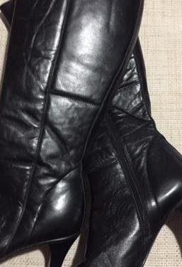 2 pares de botas altas de piel. t 38