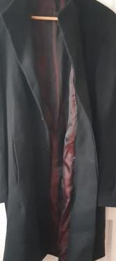 Abrigo paño negro talla xl