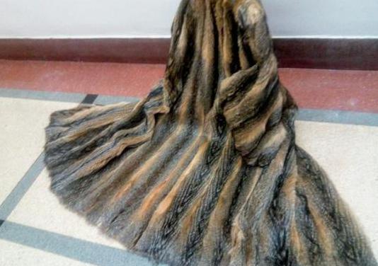 Abrigo piel de zorro patagonia xl