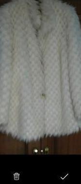 Abrigo piel sintetico