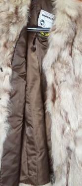 Abrigo piel zorro y funda