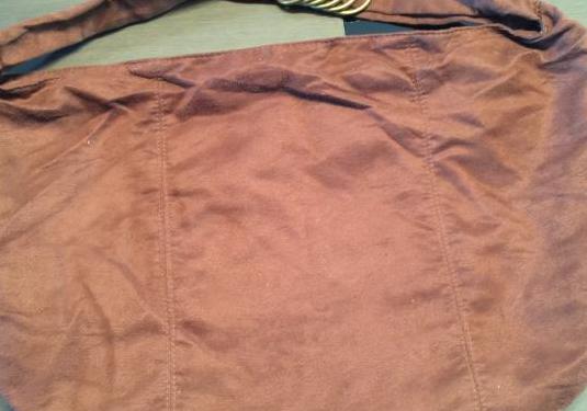 Bolso marrón de ante