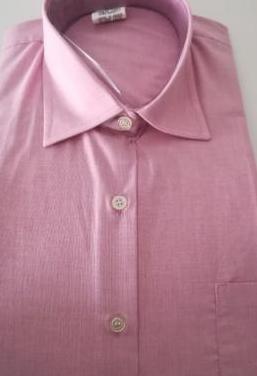 Camisa rosa manga larga mujer