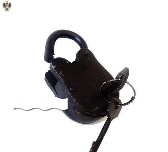 Candado medieval acero + llaves