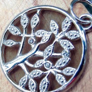 Colgante zirconita arbol vida plata 925