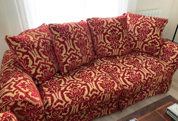 Conjunto de sofás 3 + 2, con relleno de pluma
