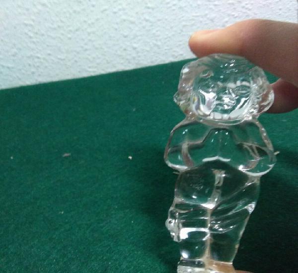 Cristal antiguo vidreo,curiosa y original figura de niño en