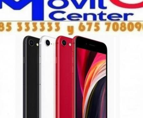Iphone se 2020 64gb nuevo sin abrir =movil cen...