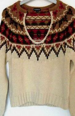 Jersey de lana con cenefas