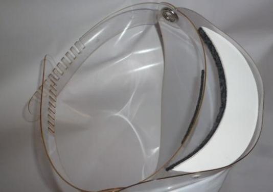 Protector de cara transparente, no bloquea vista