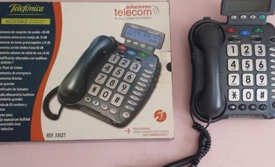 Teléfono para personas mayores o auditivas