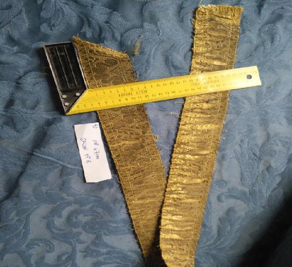 Ancho galon oro metal 108 x 7 cm ideal confecciones