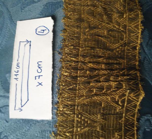 Ancho galon oro metal 116 x 7 cm ideal confecciones