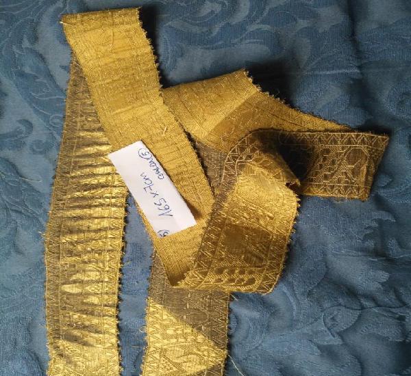 Ancho galon oro metal 165 x 7 cm ideal confecciones