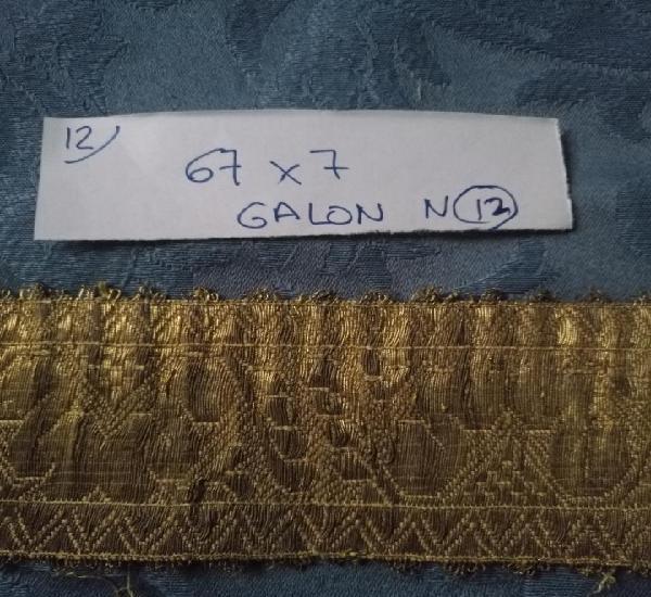 Ancho galon oro metal 67 x 7 cm ideal confecciones religiosa