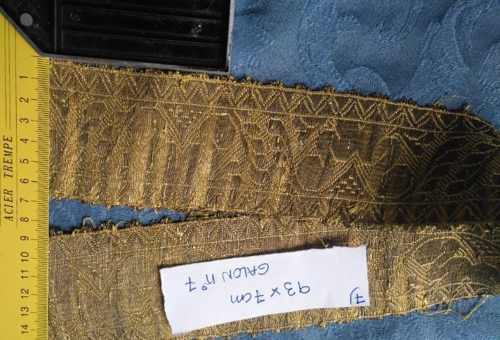 Ancho galon oro metal 93 x 7 cm ideal confecciones religiosa