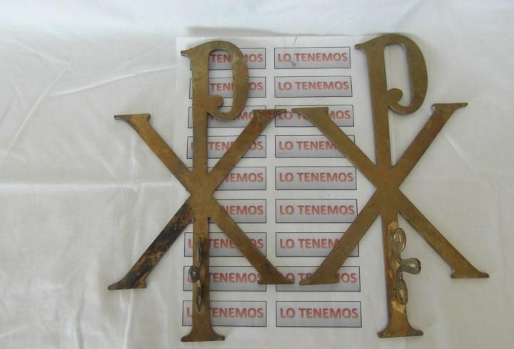 Lote de 2 piezas de bronce crismon xp