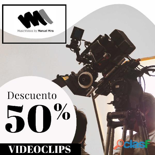 Productora de videos musicales. 50% de descuento!