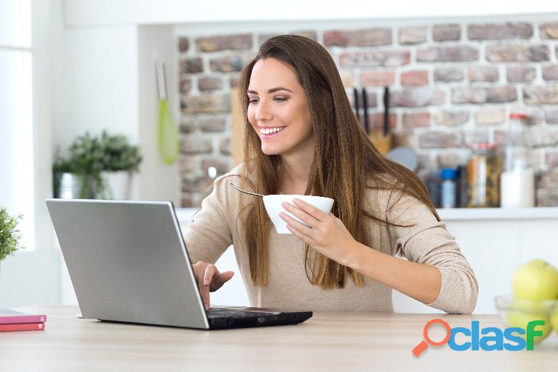 ¿quieres trabajar en una empresa joven desde casa?