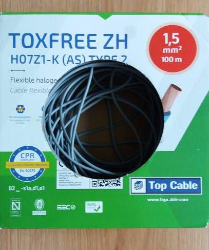 95m cable flexible halogeno top cable 1,5mm2