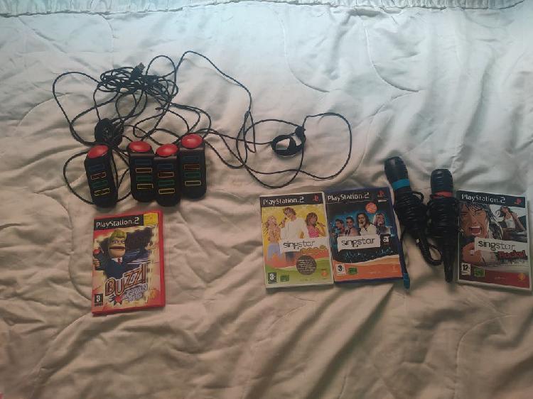 Lote de accesorios y juegos play station 2