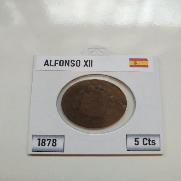 Moneda 1878 alfonso xii con error