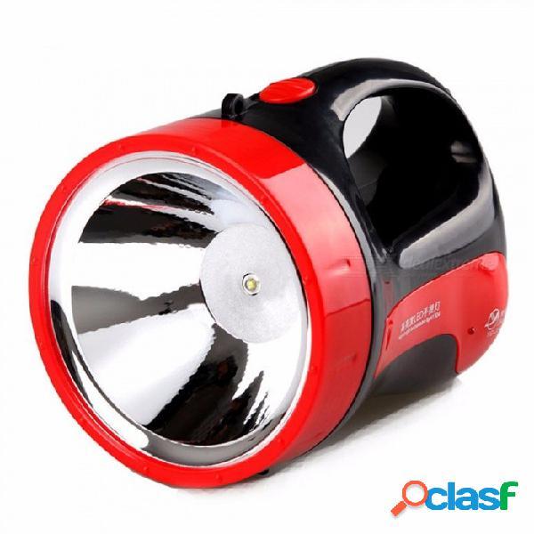 Luz de camping 3w batería recargable súper de largo alcance búsqueda linterna noche al aire libre led linternas blanco frío / negro