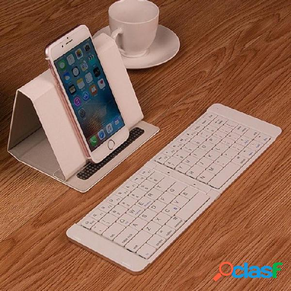 Teclado bluetooth de metal plegable general para android ipad tablet teléfono móvil portátil mini teclado inalámbrico externo de oro rosa