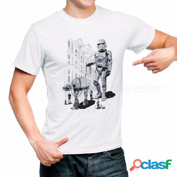 2018 camiseta divertida impresa de star wars camiseta robot star wars manga corta para hombres camisetas tops camisetas de moda